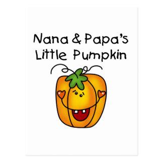 T-shirt da abóbora de Nana e de papá poucos Cartão Postal