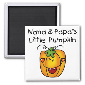 T-shirt da abóbora de Nana e de papá poucos Ímã Quadrado