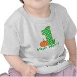 T-shirt da abóbora do menino do primeiro aniversar