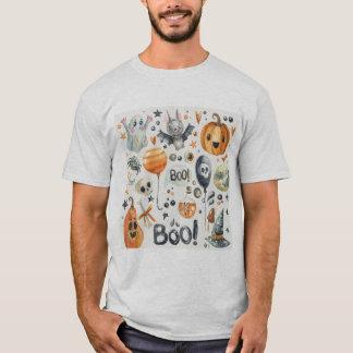 T-shirt da aguarela do Dia das Bruxas