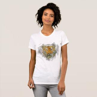 T-shirt da aguarela do tigre