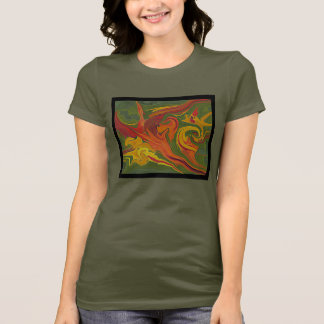 T-shirt da arte abstracta