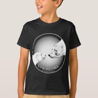 T-shirt da arte do urso da camisa do urso polar do