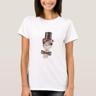 T-shirt da avestruz do hipster