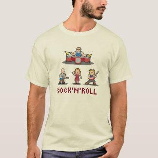 T-shirt da banda de rock and roll do pixel