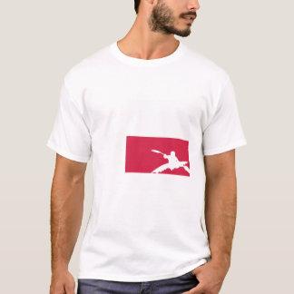 T-shirt da bandeira de Texas - caiaque