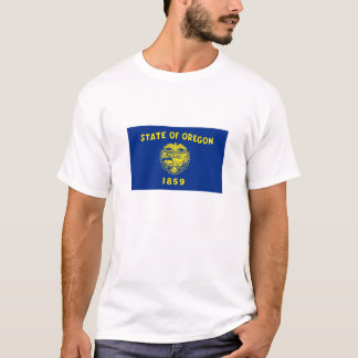 T-shirt da bandeira do estado de Oregon