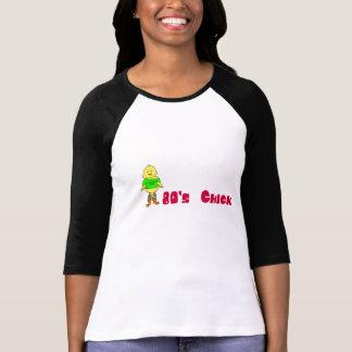 t-shirt da camisa das senhoras do pintinho do anos