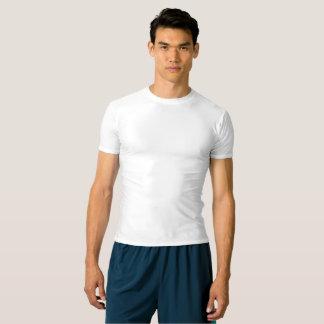 T-shirt da compressão do desempenho dos homens