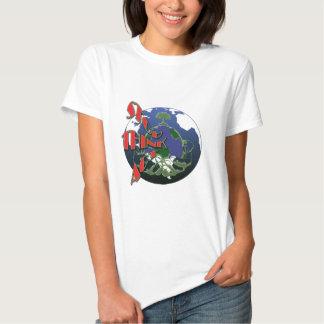 T-shirt da consciência do aquecimento global
