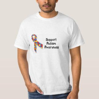 T-shirt da consciência do autismo do apoio