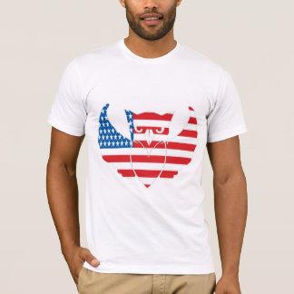 t-shirt da coruja-bandeira