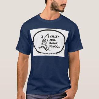 T-shirt da escola do caiaque do moinho do vale