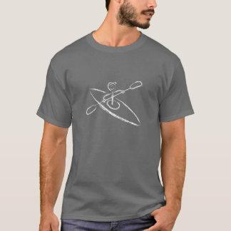 T-shirt da escova do caiaque