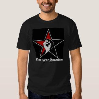 T-shirt da estrela do anarquismo da guerra de
