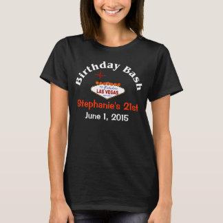 T-shirt da fêmea do aniversário de 21 anos de Las