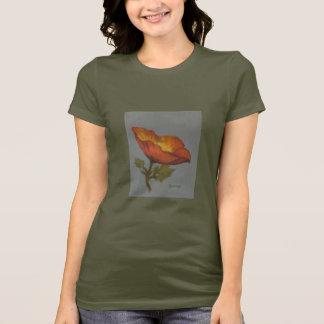 T-shirt da flor da papoila