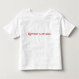 T-shirt da ketchup da criança do miúdo
