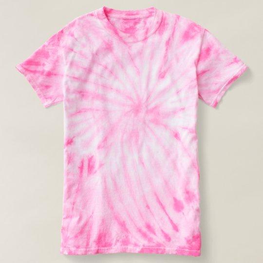 Camiseta feminina tie-dye Cyclone, Cor-de-rosa
