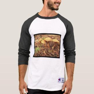 T-shirt da luva do cogumelo 3/4