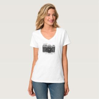 T-shirt da luva do short da fotografia da câmara