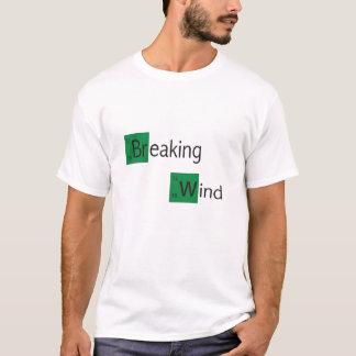 t-shirt da mesa periódica de vento de quebra