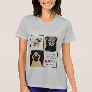 T-shirt da Micro-Fibra das senhoras dos Pugs do sa