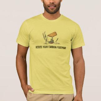 T-shirt da pegada do carbono