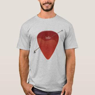 T-shirt da picareta da guitarra
