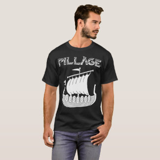 T-shirt da pilhagem de Viking Longship