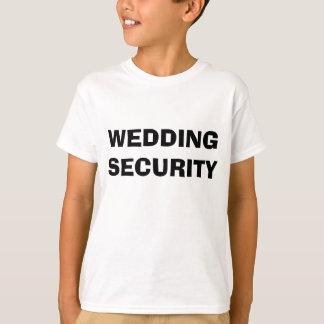 T-shirt da segurança do casamento