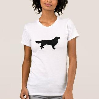 T-shirt da silhueta do golden retriever