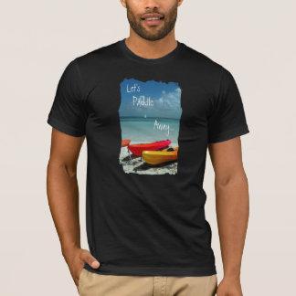 T-shirt das caraíbas da pá do caiaque