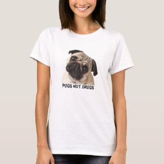 T-shirt das drogas dos Pugs não