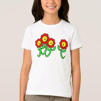 t-shirt das flores do canto dos desenhos animados