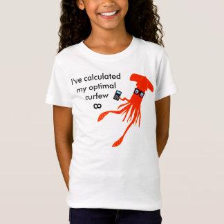 T-shirt das horas de dormir do calamar da