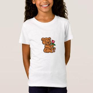 T-shirt das meninas do urso de ursinho