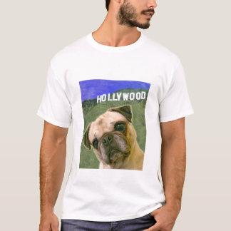 T-shirt das produções do cão do Pug