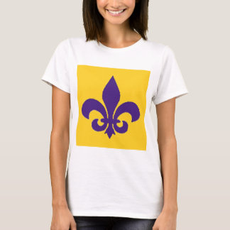 T-shirt das senhoras da flor de lis de Louisiana