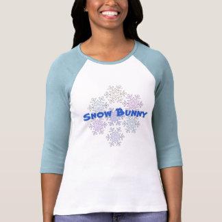 T-shirt das senhoras do floco de neve