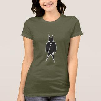 T-shirt das senhoras escuras de CeliBat pequeno