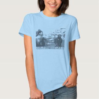 T-shirt das senhoras ObamaKilledOsama