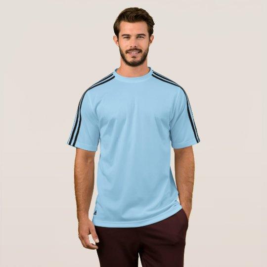 Camiseta Adidas ClimaLite® Masculina, Azul Argentina/Preto