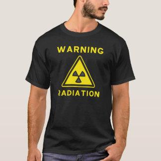 T-shirt de advertência da radiação