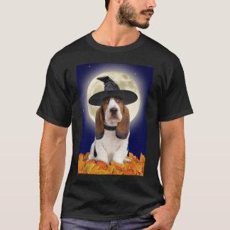 T-shirt de Basset Hound o Dia das Bruxas