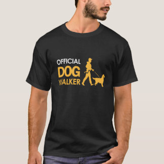 T-shirt de Dogwalker do golden retriever