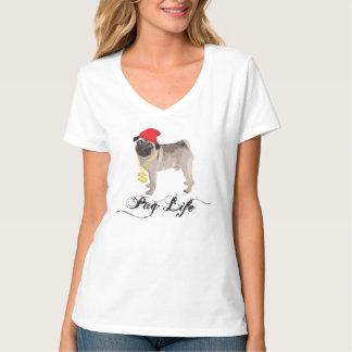 T-shirt de Gansta da vida do Pug