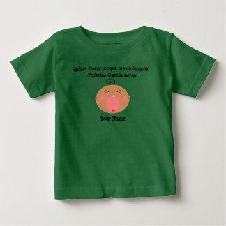 T-shirt de grito bonito do bebê da língua