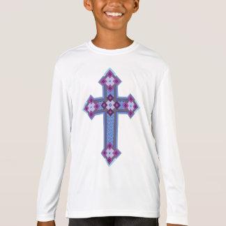 T-shirt de Longsleeve do Esporte-Tek dos meninos