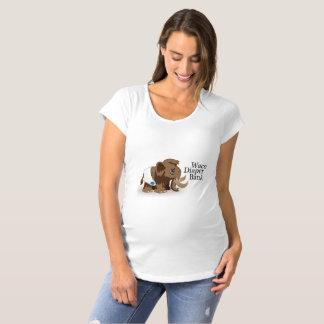 T-shirt de maternidade do banco da fralda de Waco